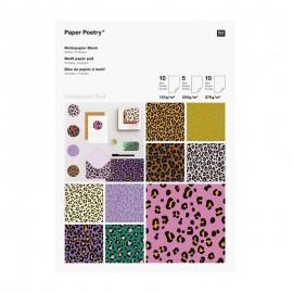 Bloc de papier Rico Design - Acid leo