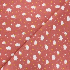 Cretonne cotton fabric - marsala Nube x 10cm