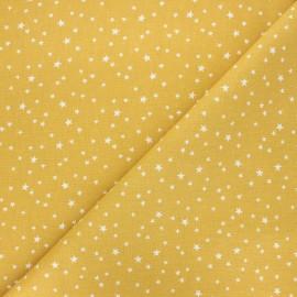 Cretonne cotton fabric - mustard yellow Atria x 10cm