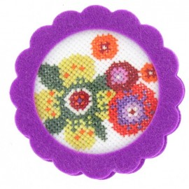 Round-shaped felt frame - lilac