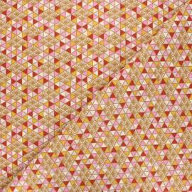 Tissu coton cretonne Nippon - rose x 10cm