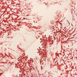 Toile de Jouy fabric - red Festin x 60cm