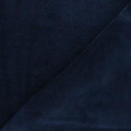 Tissu micro-éponge bambou - bleu marine x 10cm