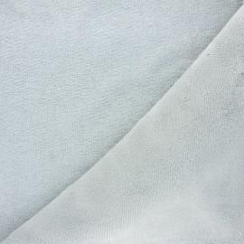 Tissu micro-éponge bambou - gris clair x 10cm