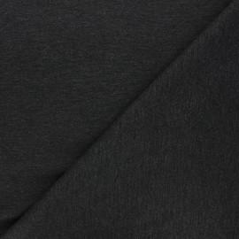 Tissu jersey milano uni - gris foncé chiné x 10cm