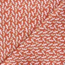Cretonne cotton fabric - rust Dove x 10cm