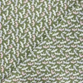 Cretonne cotton fabric - khaki green Dove x 10cm