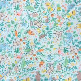 Cretonne cotton fabric - light blue Buenos Aires x 10cm