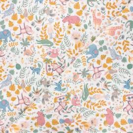 Cretonne cotton fabric - white Buenos Aires x 10cm