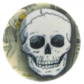 Covered Button, Skull - white