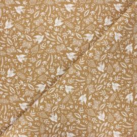 Cretonne cotton fabric - camel Paz x 10cm