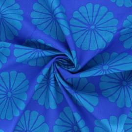 Tissu popeline de coton Kaffe Fassett Damask flower - bleu marine x 10cm
