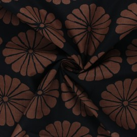 Kaffe Fassett cotton poplin fabric - black Damask flower x 10cm