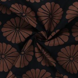 Tissu popeline de coton Kaffe Fassett Damask flower - noir x 10cm