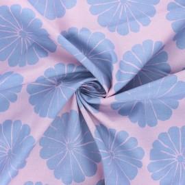 Tissu popeline de coton Kaffe Fassett Damask flower - eau de rose x 10cm