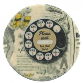 Covered Button, Telephone - multicolored
