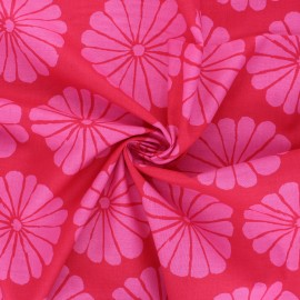 Kaffe Fassett cotton poplin fabric - fuchsia pink Damask flower x 10cm