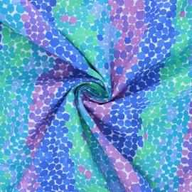 Tissu popeline de coton Kaffe Fassett Pebble mosaic - bleu x 10cm