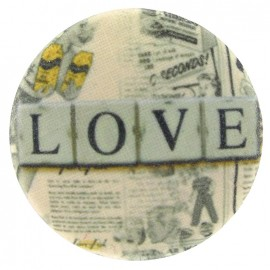 Covered Button, L.O.V.E. - multicolored