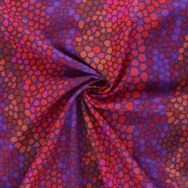 Tissu popeline de coton Kaffe Fassett Pebble mosaic - violet x 10cm