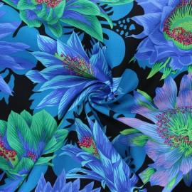Kaffe Fassett Cotton poplin fabric - black Cactus flower x 10cm