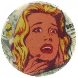 Bouton recouvert R Lichtenstein.