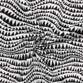 Tissu popeline de coton Kaffe Fassett Sharks teeth - noir x 10cm