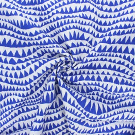 Kaffe Fassett cotton poplin fabric - navy blue Sharks teeth x 10cm