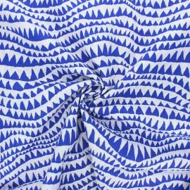 Tissu popeline de coton Kaffe Fassett Sharks teeth - bleu marine x 10cm