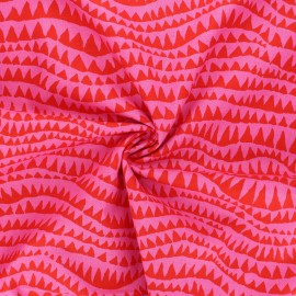 Tissu popeline de coton Kaffe Fassett Sharks teeth - rose bonbon x 10cm