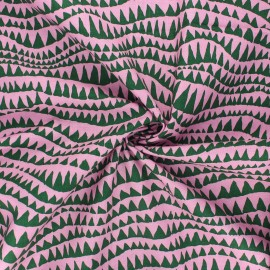 Kaffe Fassett cotton poplin fabric - light pink Sharks teeth x 10cm
