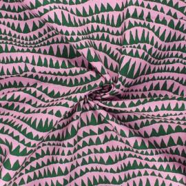 Tissu popeline de coton Kaffe Fassett Sharks teeth - rose clair x 10cm