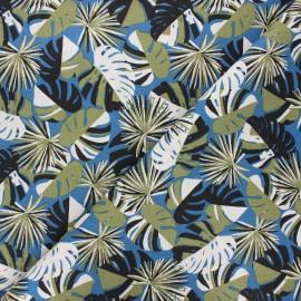 Cretonne cotton fabric - blue Guadeloupe x 10cm