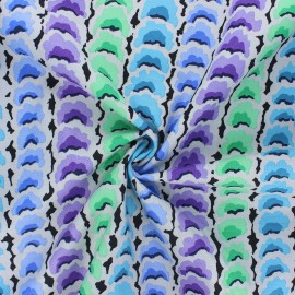 Kaffe Fassett cotton poplin fabric - light grey Garlands x 10cm
