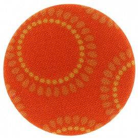 Bouton recouvert Grandes Marguerites orange