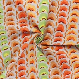 Tissu popeline de coton Kaffe Fassett Garlands - gris perle x 10cm