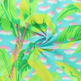 Tissu popeline de coton Kaffe Fassett Banana tree - bleu clair x 10cm