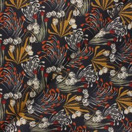 Twill cotton canvas fabric - anthracite grey Danube x 10cm