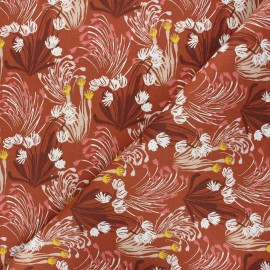 Tissu toile de coton sergé Danube - rouille x 10cm