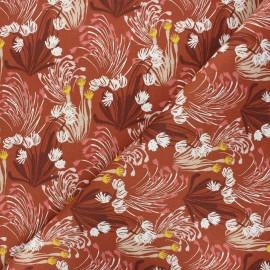 Twill cotton canvas fabric - rust Danube x 10cm