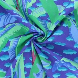 Tissu popeline de coton Kaffe Fassett Banana tree - violet x 10cm