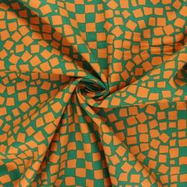 Tissu popeline de coton Kaffe Fassett Chips -  vert foncé x 10cm