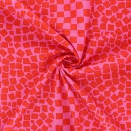 Tissu popeline de coton Kaffe Fassett Chips -  rose bonbon x 10cm