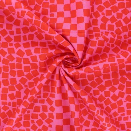 Kaffe Fassett cotton poplin fabric - candy pink Chips x 10cm