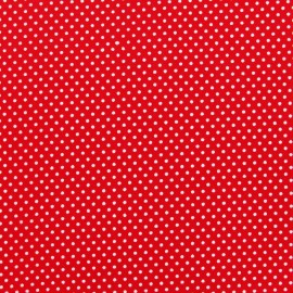 Tissu thermocollant pois rouge (A4)