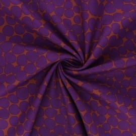 Tissu popeline de coton Kaffe Fassett Jumble - marron x 10cm