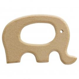 Anneau de dentition bois naturel Baby - Éléphant
