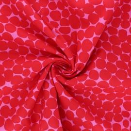 Tissu popeline de coton Kaffe Fassett Jumble - rouge x 10cm