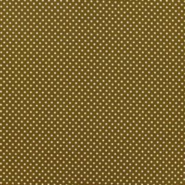 Tissu thermocollant pois beige (A4)