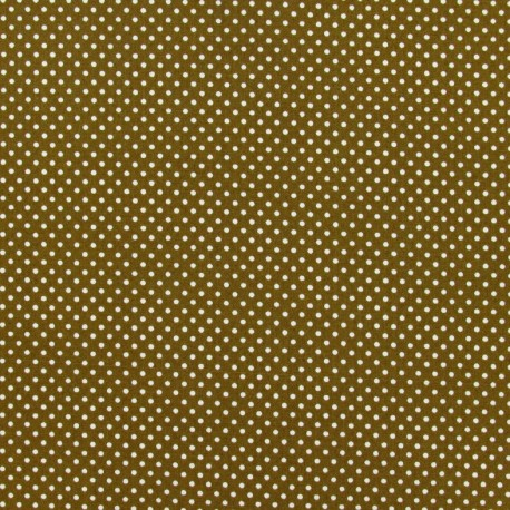 Sticking fabric sheet with white polka dots - beige